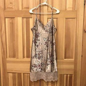 NWT Thalia Sodi Womens Velvet-Appliqué Chemise Nightgown 100032261MS